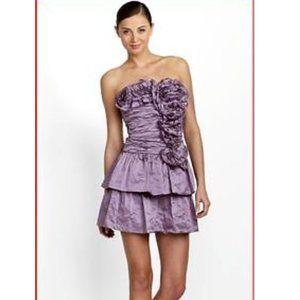 Bcbg Max Azria Marcella Taffeta Mini Ruffled Dress